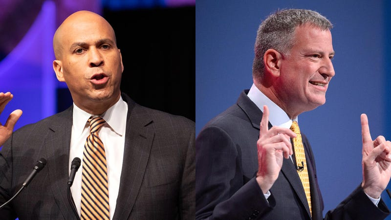 Illustration for article titled Presidential Debate Sidetracked By Booker, De Blasio Arguing About Best Place In Lower Manhattan To Get Tapas