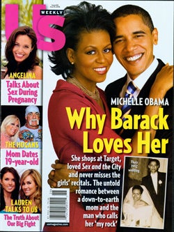 Illustration for article titled This Week In Tabloids: Why Barack Loves Michelle; Angelina Is Anxious Or Adopting