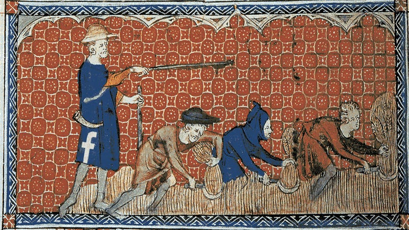Illustration for article titled In Facebook's Bleak New Feudalism, Creators Are Mere Serfs