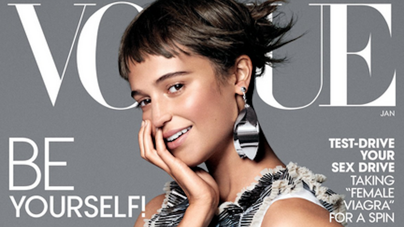 Illustration for article titled Alicia Vikander Literally Threw Herself Out of a Plane forVogue