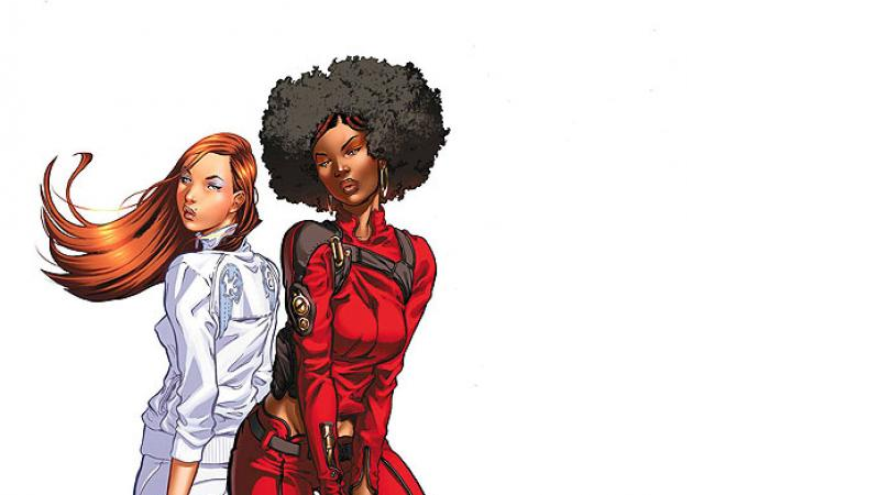 Daughters of the Dragon #1 cover by Khari Evans