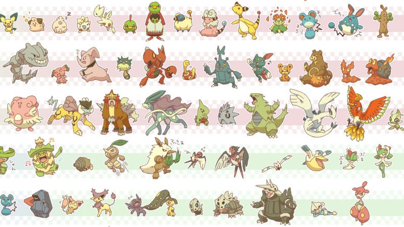All 646 Pokemon Together In The Mother Of Family Photos