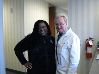 Me and Dr. Gary O. Bean of Raleigh Family Practice.