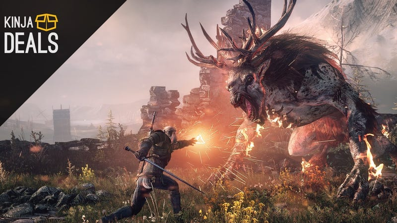 Illustration for article titled Today's Best Gaming Deals: The Witcher 3, 25% off Game Guides, and More