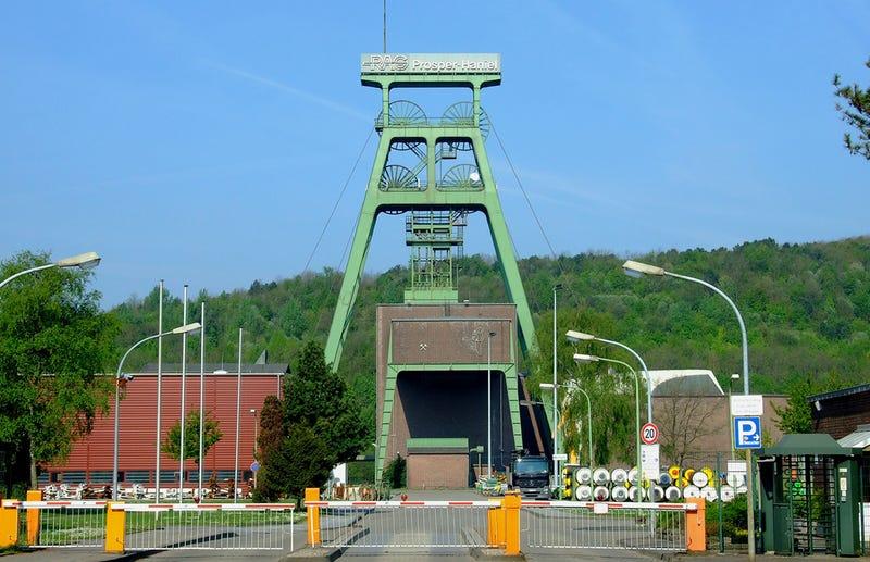 Entrada a la mina de Prosper-Haniel en la actualidad. Foto: Wikipedia