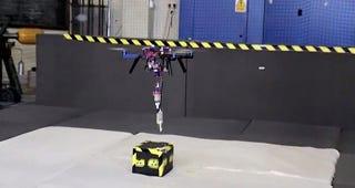 Illustration for article titled Este dron es el primer paso para las impresoras 3D voladoras