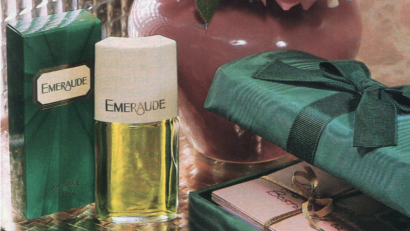 Illustration for article titled 12 Days of Christmas Presents Past: A Glam Emeraude Perfume in a Glam Keepsake Box