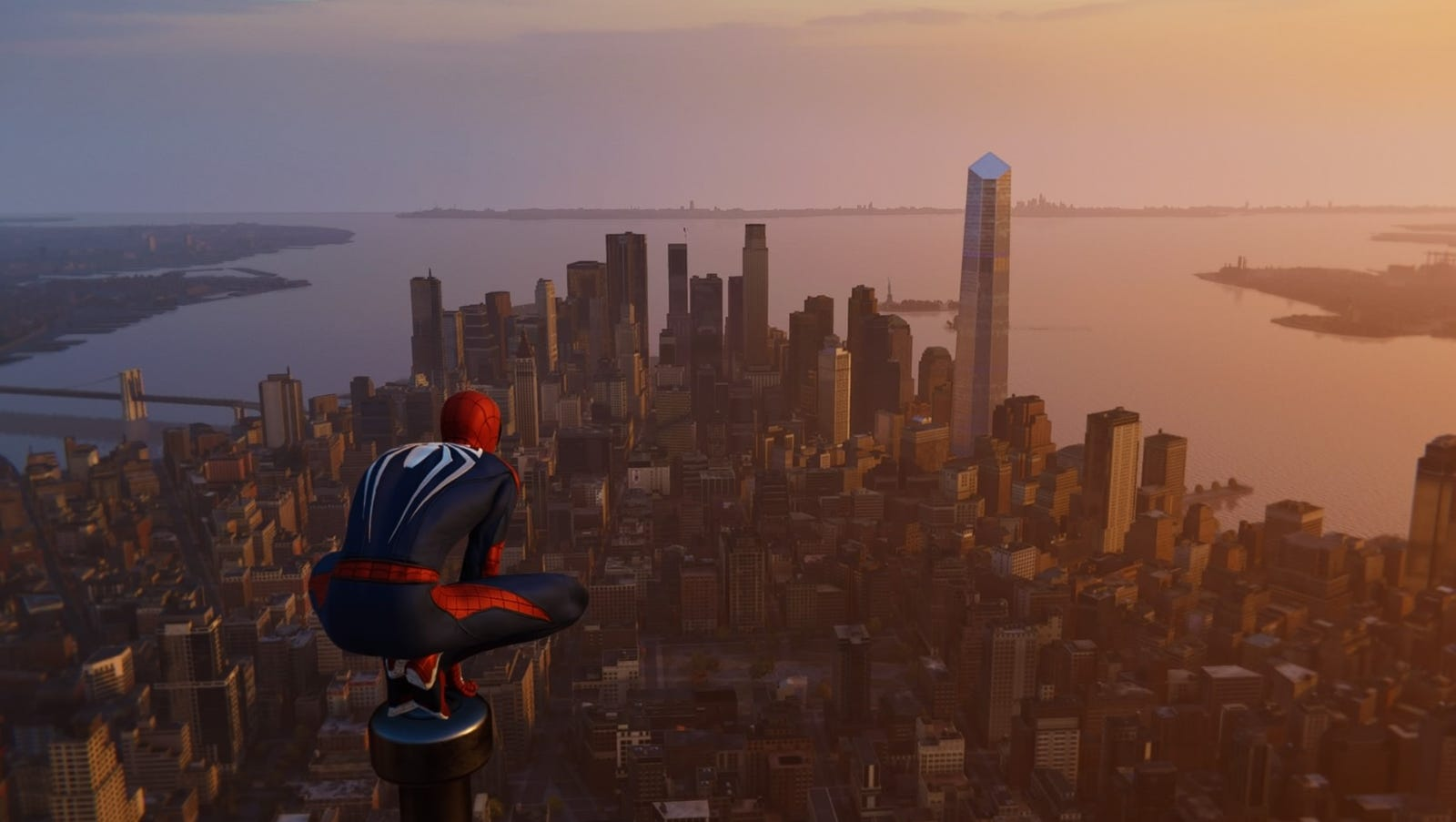 Image result for spider man ps4 city view