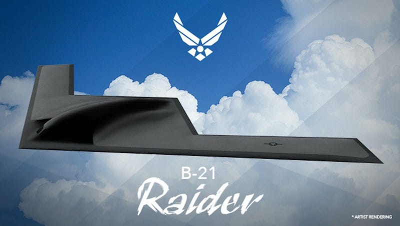 The only known image of the upcoming B-21 Raider bomber.