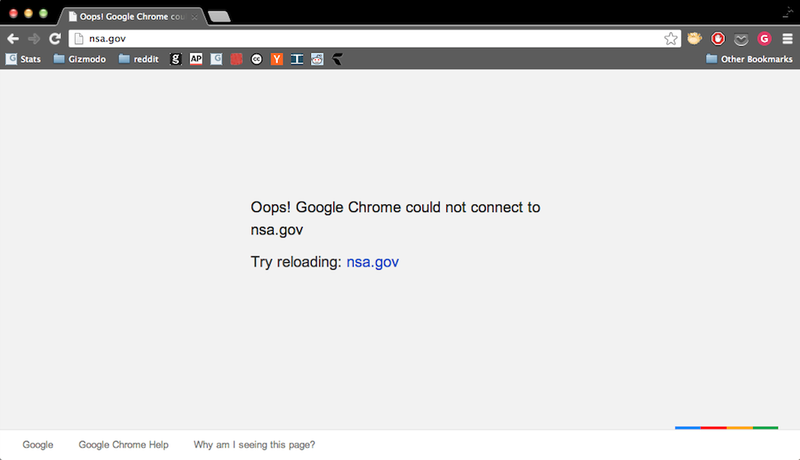 Illustration for article titled The NSA's Website Is Down