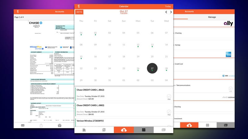 Illustration for article titled FileThis 2.0 Can Now Manage Your Bills, Show You a Calendar of Due Dates