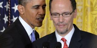 Barack Obama and Tom Perez (AFP/Getty Images)