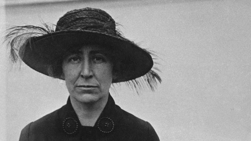 American politician and peace activist Jeannette Rankin (1880 - 1973), circa 1918. She was was the first woman elected to the US House of Representatives. (Photo by FPG/Hulton Archive/Getty Images)