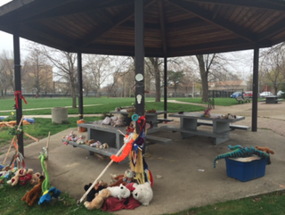 The Cudell Recreation Center gazebo where 12-year-old Tamir Rice was fatally shot by Cleveland police on Nov. 22, 2014.WKYC Screenshot