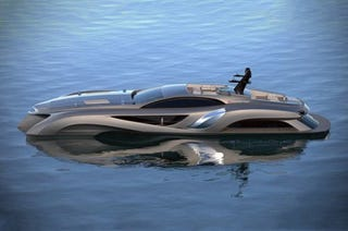 Illustration for article titled OMG It's a yacht that looks like a car!