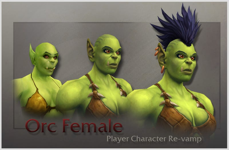 Illustration for article titled World Of Warcraft's New Orc Female: Now 100 Percent Less Stupid