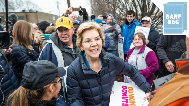 Illustration for article titled Elizabeth Warren Says Fox News Is 'Running a Hate-for-Profit Scam'
