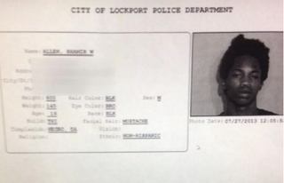 Alleged shooting suspect Shamir Allen's mug shotLockport Police Department