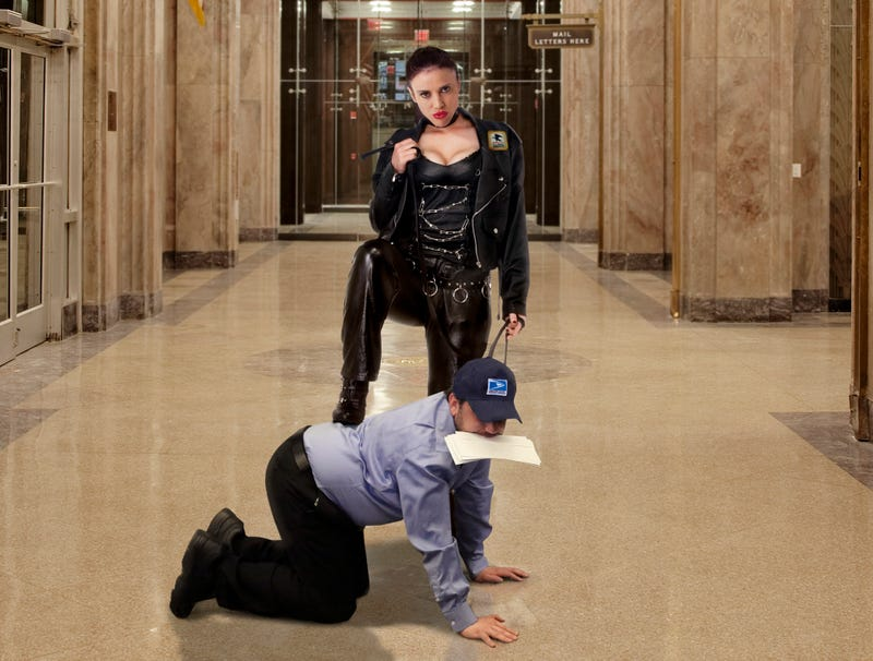 Illustration for article titled U.S. Postal Service Appoints First Leather-Clad Postmistress General