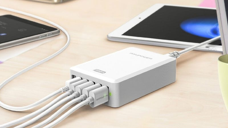 RAVPower 50W 6-Port USB Charger, $12 with code VXMOQ74S