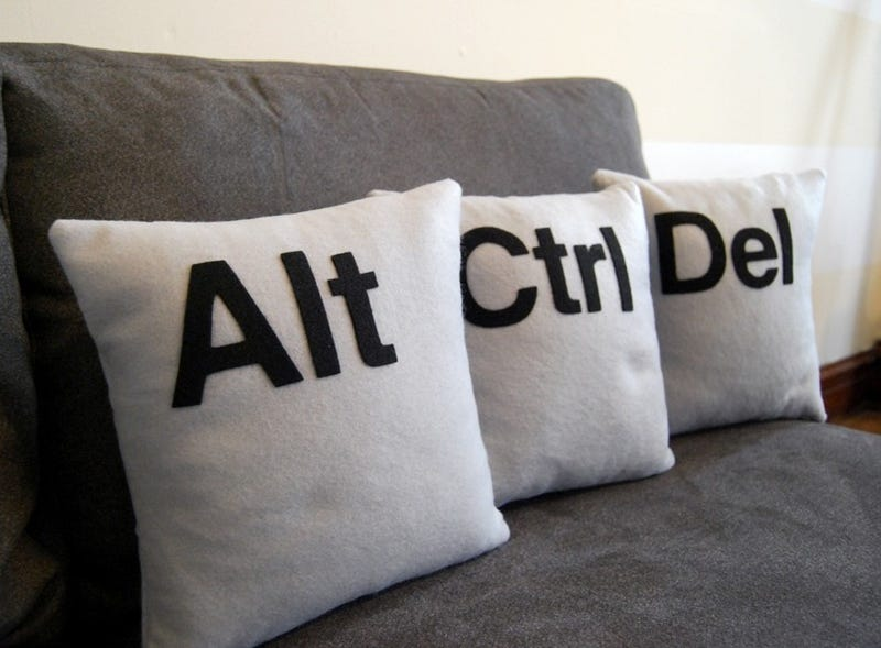 Illustration for article titled Ctrl-Alt-Del Cushions Reboot Your Living Room Style