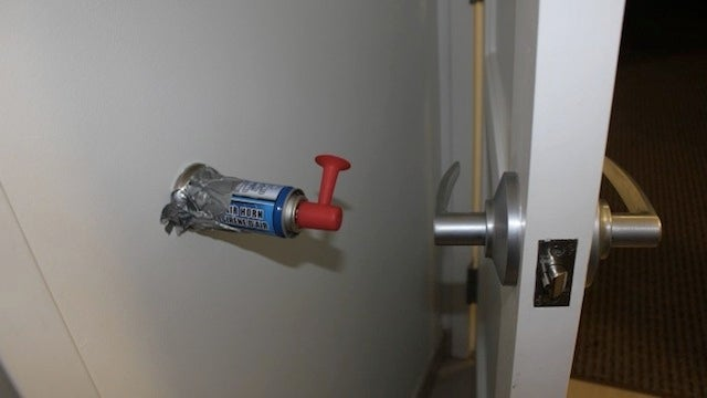 ... off the  salt in the sugar shaker  or  I fucked your wife  prank but it takes true ingenuity to pull of something like this a door-triggered air horn. & This Brilliant Door Prank Will Terrify and Maybe Kill Your Friends