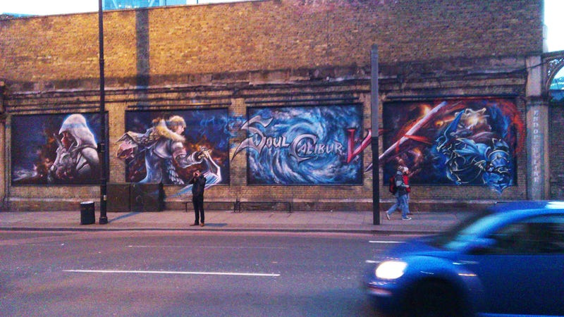 Illustration for article titled This Soul Calibur V Grafitti May Be An Ad… or Just the Work of Ardent Fans?