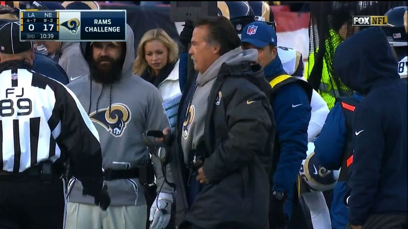 Illustration for article titled Jeff Fisher Tries To Challenge Play, Is Thwarted By His Own Coat