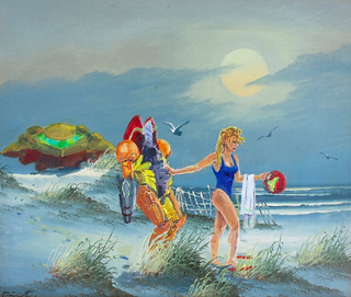 Illustration for article titled Samus Added To A Thrift Store Painting