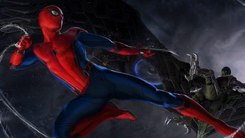 Illustration for article titled El primer cartel de la nueva película de Spider-Man es simplemente perfecto