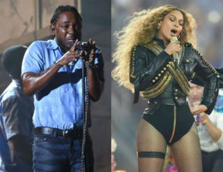 Kendrick Lamar; BeyoncéLarry Busacca/Getty Images for NARAS; TIMOTHY A. CLARY/AFP/Getty Images