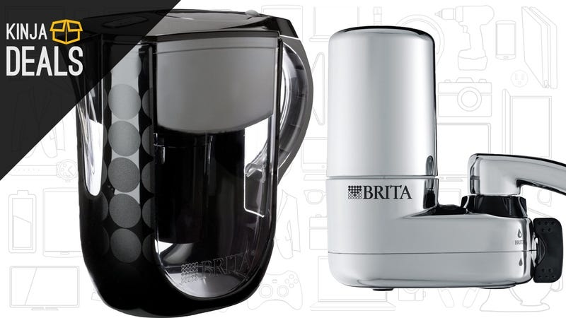 Illustration for article titled Clean Your (Probably) Metallic Tap Water With These Discounted Brita Products