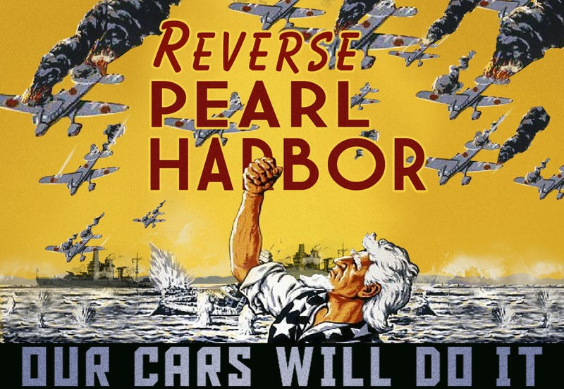 Illustration for article titled This Detroit Auto Show Is Like Pearl Harbor In Reverse