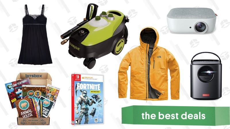 Illustration for article titled Friday's Best Deals: Pressure Washer, REI's Anniversary Sale, Portable Projector, and More