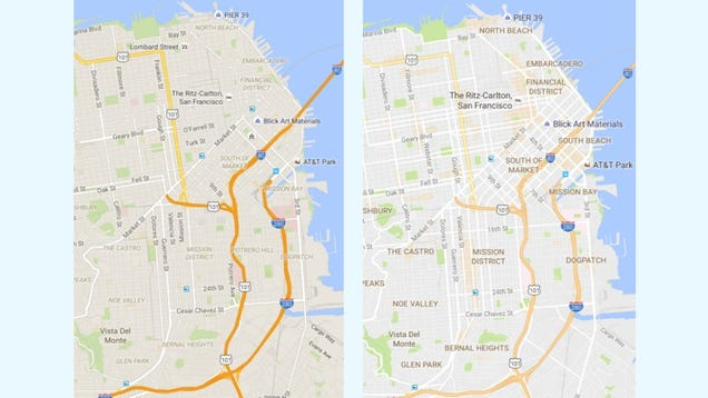 """Google Maps Debuts a Clean New Look and """"Areas of Interest"""" Feature"""