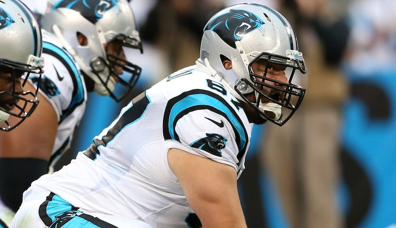 Illustration for article titled Carolina Panthers Championship-Guaranteer Ryan Kalil Will Be Out For The Season With A Foot Injury