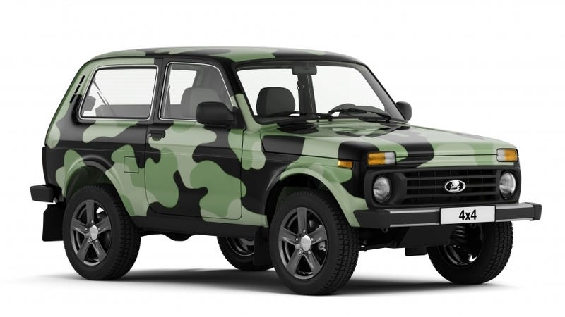 hell yeah the 2018 lada 4x4 comes in camo. Black Bedroom Furniture Sets. Home Design Ideas