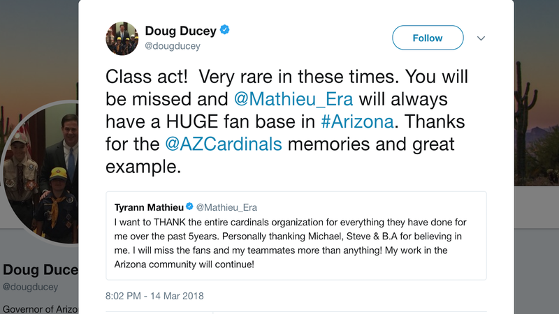 Illustration for article titled Arizona Gov. Doug Ducey Tweets About The Cardinals While Students Camp Outside His Office To Discuss Gun Violence