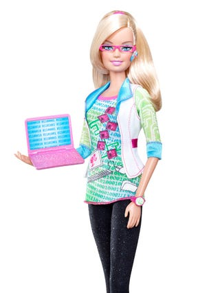 Illustration for article titled Computer Engineer Barbie Has a PhD In FUN (And Breaking Down Stereotypes)