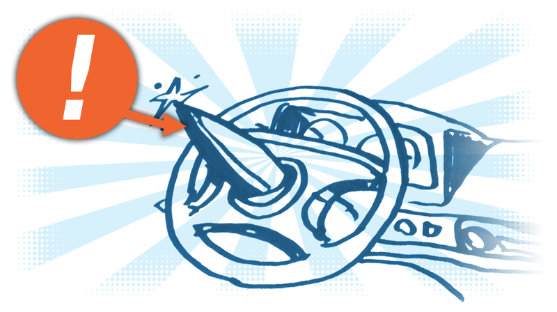 Illustration for article titled There's Actually A Name For A Steering Wheel With A Big Spike In The Middle