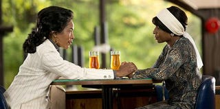 Angela Bassett and Mary J. Blige as Coretta and Betty (Philippe Bosse/Lifetime)