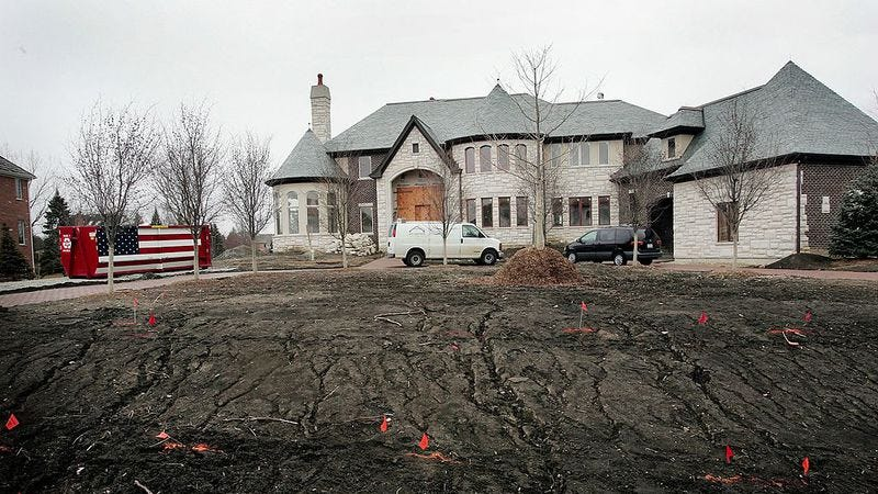 A McMansion, crawling out of hell. Photo: Credit: Scott Olson / Staff / Getty