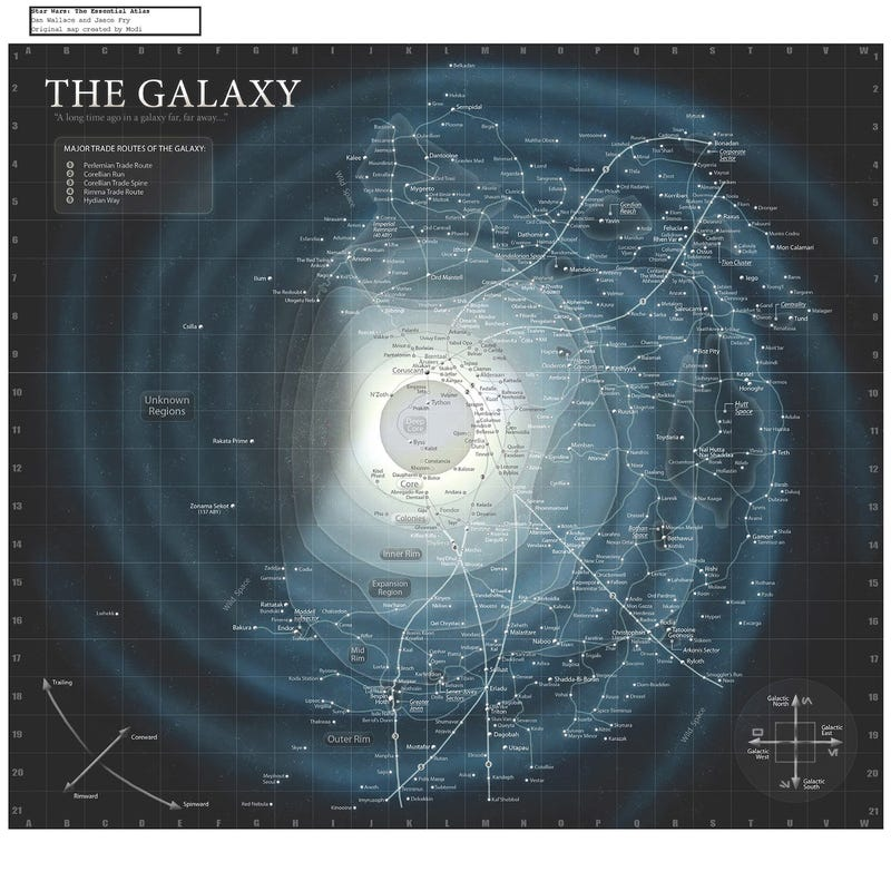 Illustration for article titled A planetary map of the entire Star Wars universe