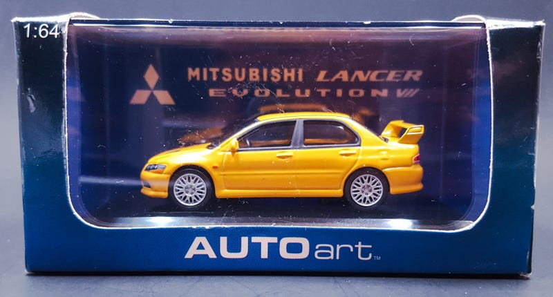 Illustration for article titled LaLD Car Week: Land of the Rising Sunday - AUTOart Mitsubishi Lancer Evolution VII 1/64