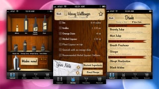 Illustration for article titled Most Popular Drink Mixing Recipe App: Liquor Cabinet