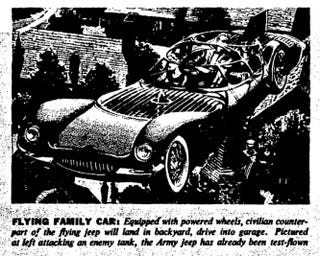 Illustration for article titled Flying Family Car (1958)
