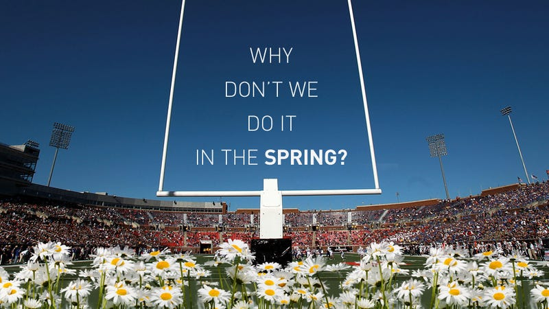 Illustration for article titled Let's Move College Football To The Spring