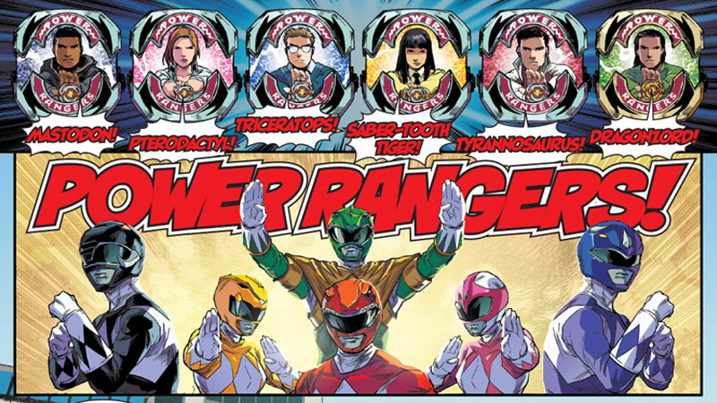 Illustration for article titled The New Power RangersComic is the Exact Sort of Nostalgia Trip You Wanted, and More