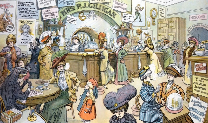 Illustration for article titled When a Bar Full of Women Was a Nightmarish Dystopia