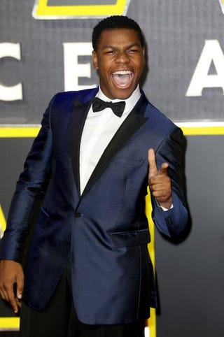 John Boyega attends the European premiere of Star Wars: The Force Awakens at Leicester Square in London on Dec. 16, 2015.Chris Jackson/Getty Images